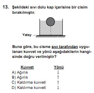 SBS Ortak Sınav 13. Soru